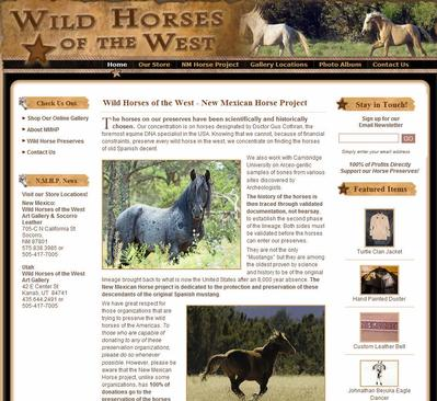 Wild Horses of the West Art Gallery